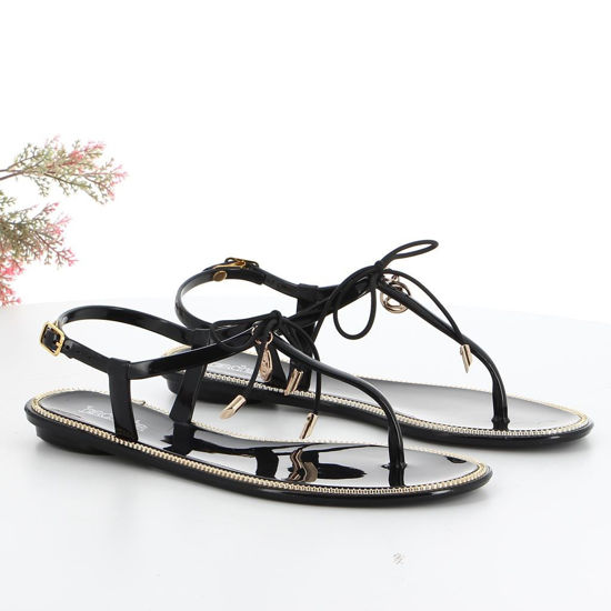 Immagine di BACHATA - Sandalo infradito con fiocco e cinturino alla caviglia