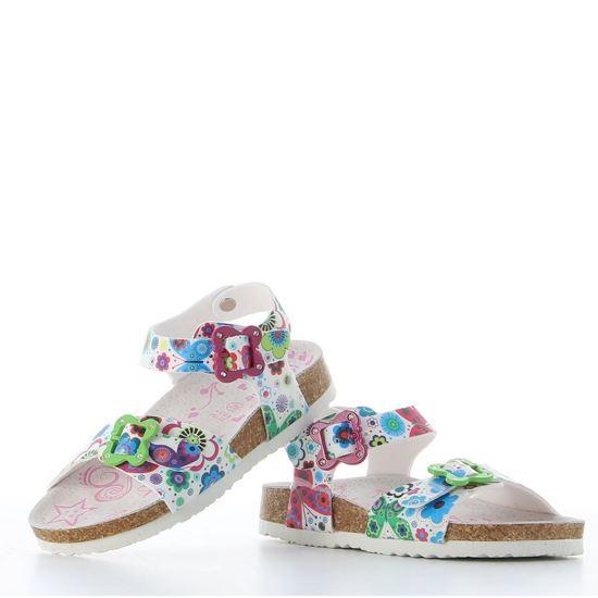 Immagine di LE DIVINE - Sandalo multicolor  e fibbie a forma di farfalla