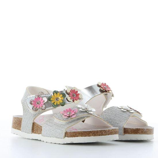 Immagine di LE DIVINE - Sandalo con glitter e fiori applicati