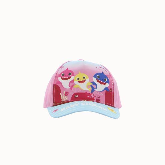 Immagine di PINKFONG BABY SHARK– Cappello baseball bimbo rosa/azzurro condisegno frontale e logo su visiera