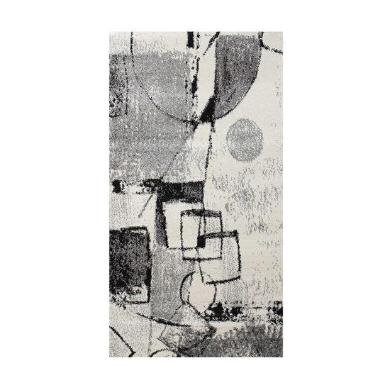 Immagine di BOYTEKS –  Tappeto Milano grigio con disegno astratto 80x150 cm
