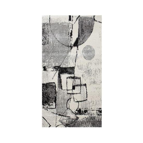 Immagine di BOYTEKS –  Tappeto Milano grigio con disegno astratto 60x110 cm