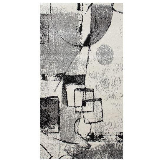 Immagine di BOYTEKS –  Tappeto Milano grigio con disegno astratto 160x230 cm