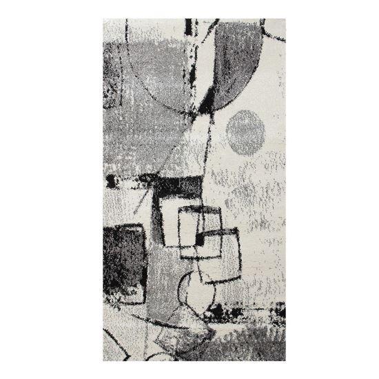 Immagine di BOYTEKS –  Tappeto Milano grigio con disegno astratto 133x190 cm
