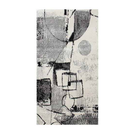 Immagine di BOYTEKS –  Tappeto Milano grigio con disegno astratto 110X170 cm