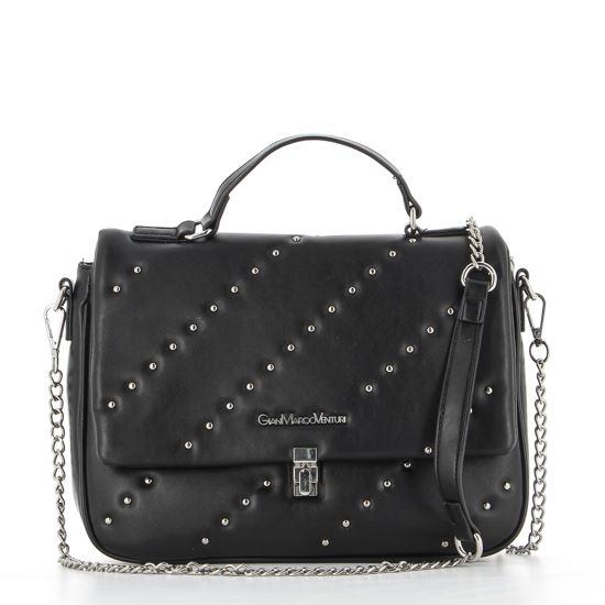 Immagine di GIANMARCO VENTURI - Tracolla nera con manico e borchie