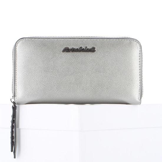 Immagine di Portafoglio grande argento con zip