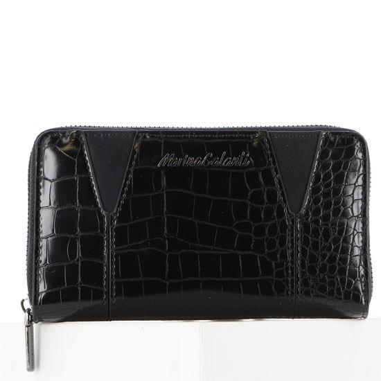 Immagine di Portafoglio grande nero stampa cocco con zip